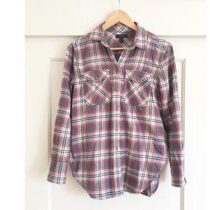 J. Crew Boyfriend Flannel Shirt in Dark Plaid